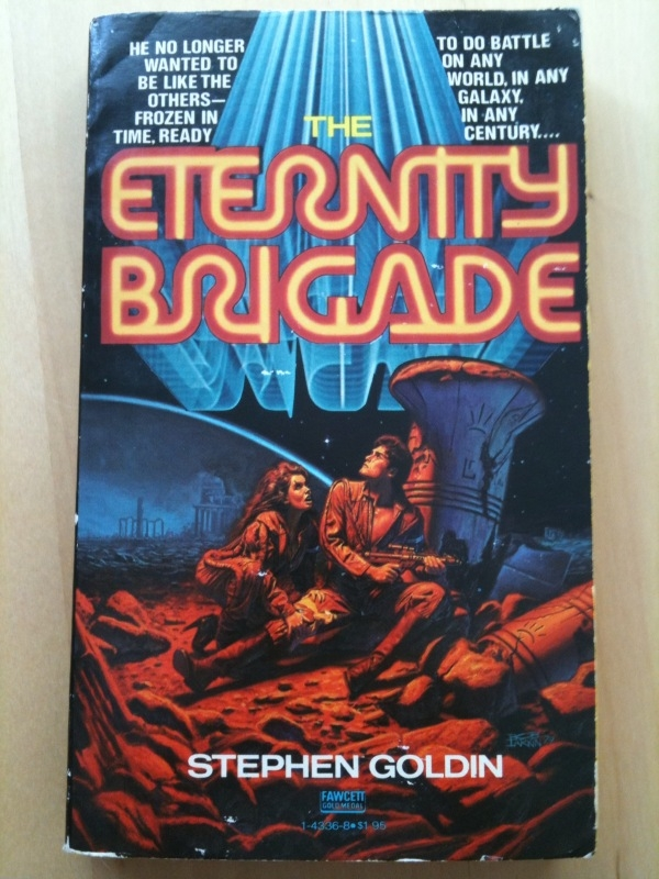 Like the great aurora borealis, the eternity brigade neon sign sweeps the sky.