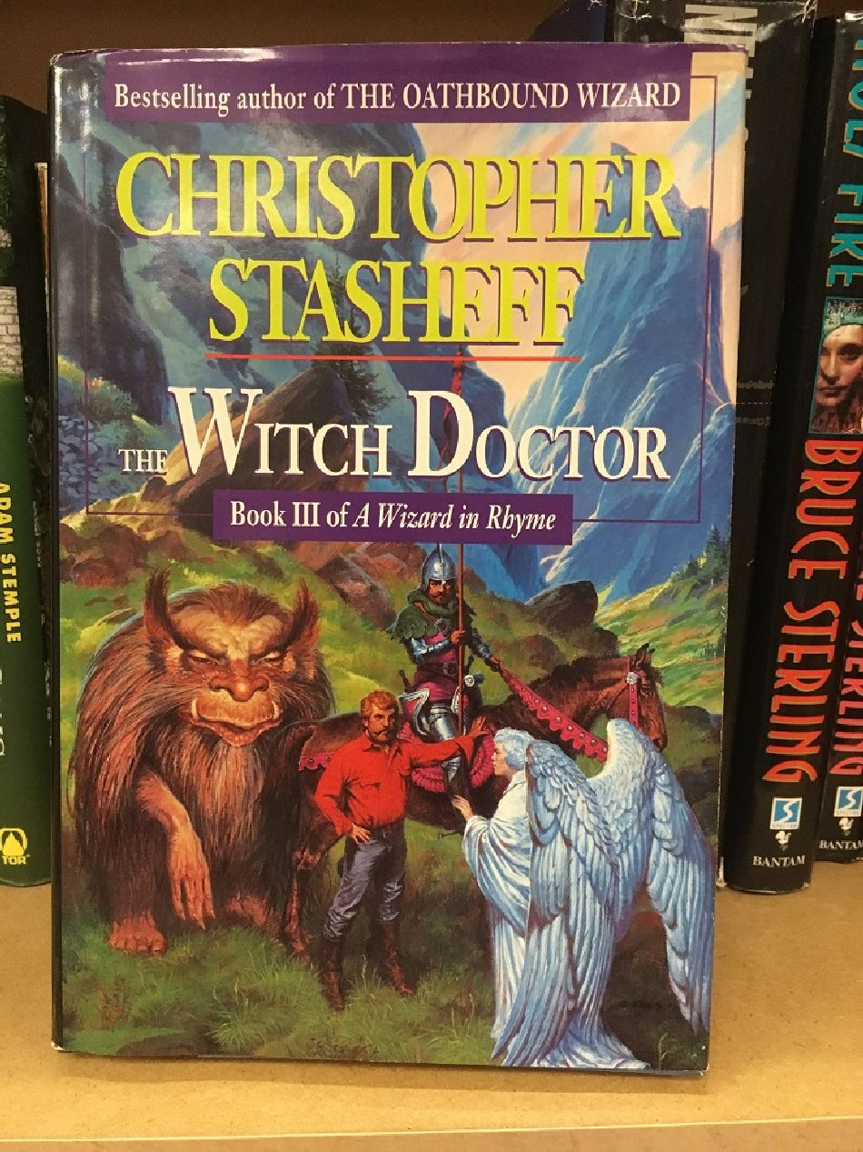 Meeting of the Piers Anthony cover reject characters