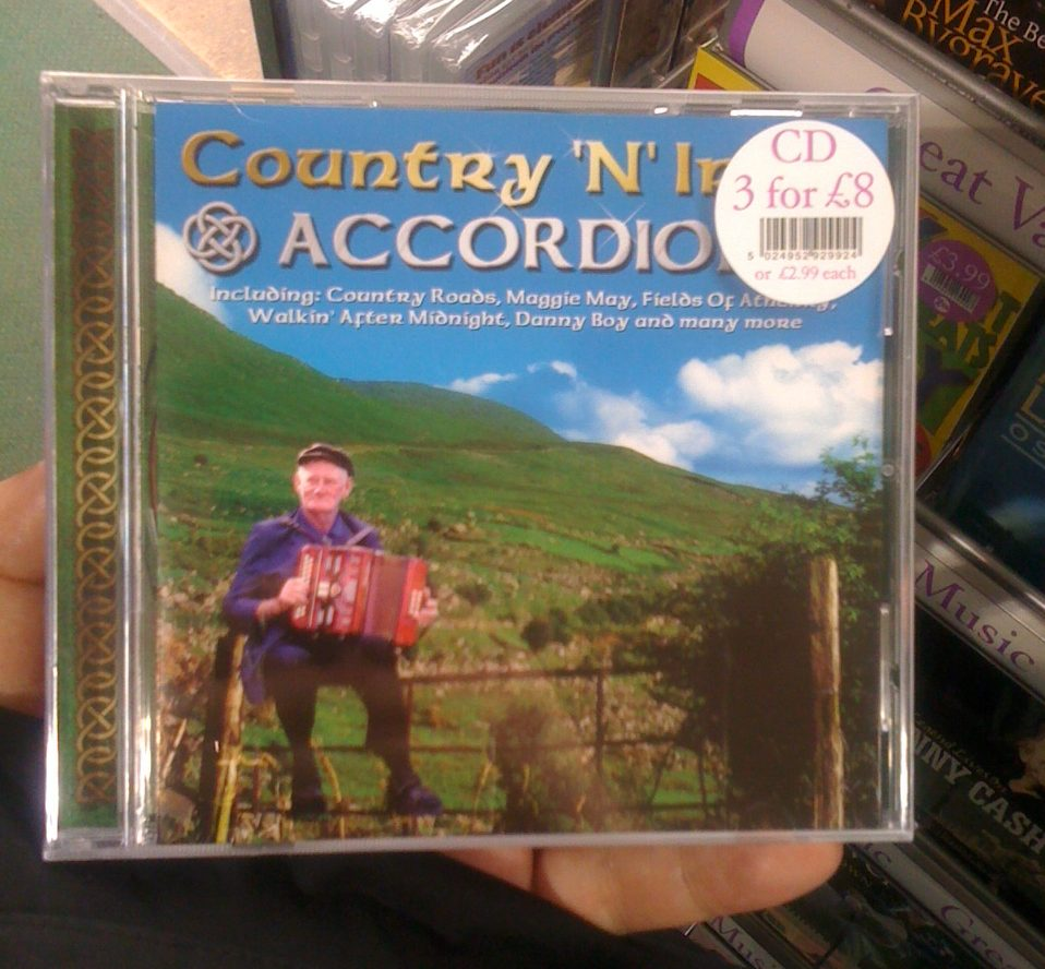 Yep, that's where you should play the accordion... away from society!